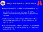 riesgo de enfermedad cardiovascular