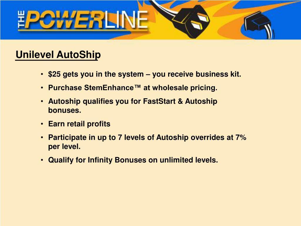 Unilevel AutoShip