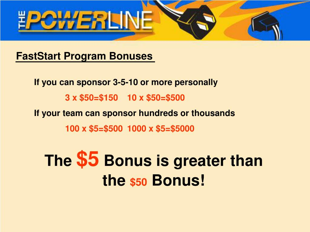 FastStart Program Bonuses