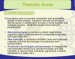 thematic areas13