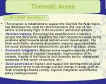 thematic areas15