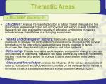 thematic areas16