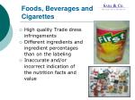 foods beverages and cigarettes