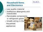 household items and electronics