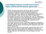 trade related aspects of intellectual property rights trips and ipr bilateral agreements