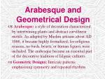 arabesque and geometrical design