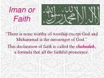 iman or faith