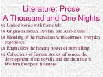 literature prose a thousand and one nights