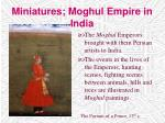 miniatures moghul empire in india