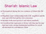 shari ah islamic law