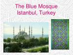 the blue mosque istanbul turkey