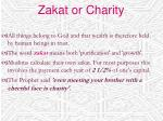 zakat or charity