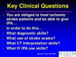 key clinical questions