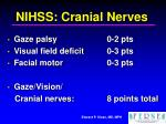 nihss cranial nerves