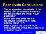 reanalysis conclusions
