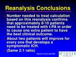 reanalysis conclusions22