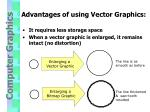 advantages of using vector graphics