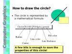 how to draw the circle