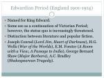 edwardian period england 1901 1914