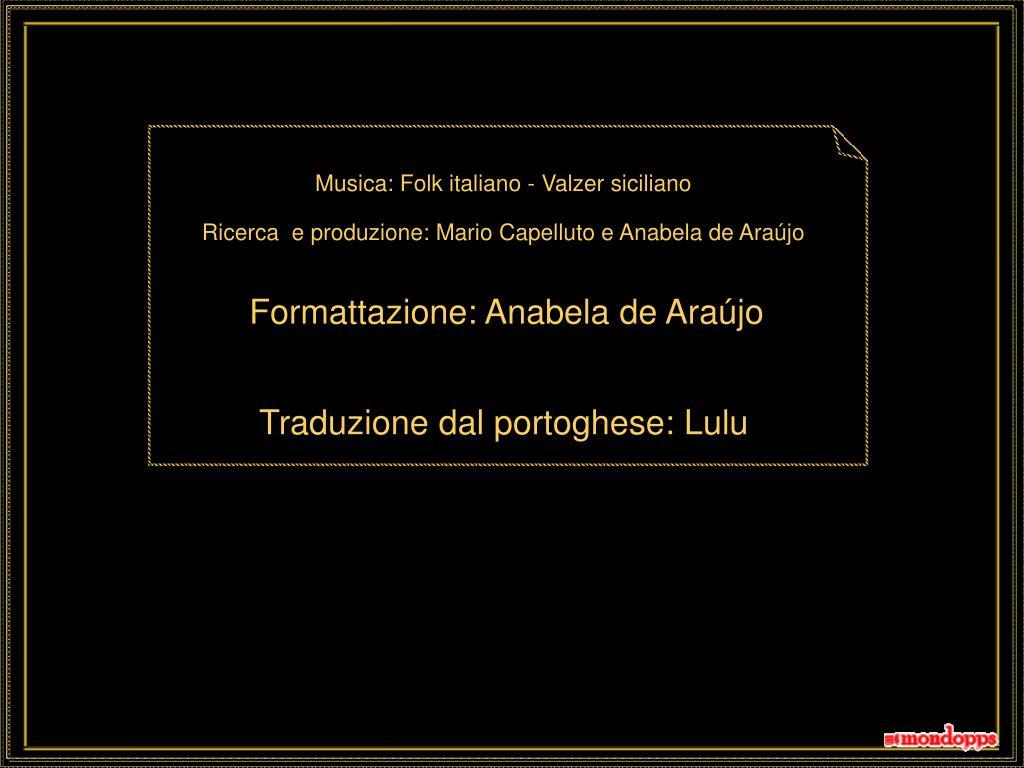 Musica: Folk italiano - Valzer siciliano
