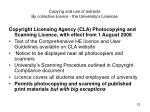 copying and use of extracts by collective licence the university s licences