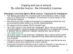 copying and use of extracts by collective licence the university s licences27