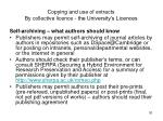 copying and use of extracts by collective licence the university s licences30