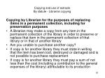 copying and use of extracts by statute librarian copying20