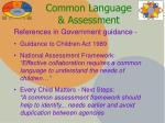 common language assessment