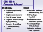 csci 480 is computer science