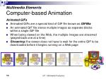 multimedia elements computer based animation