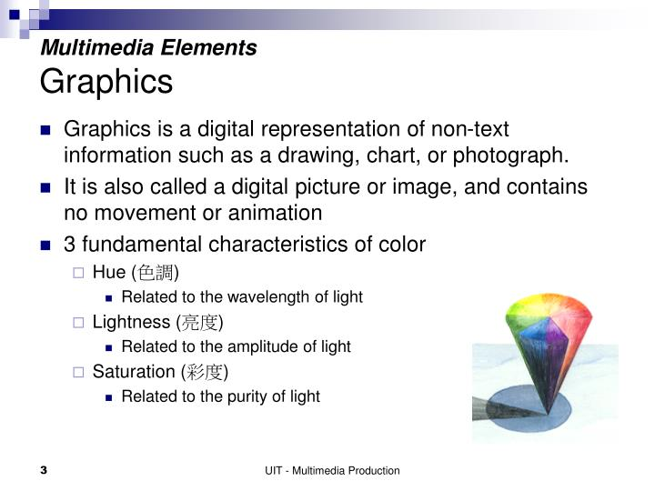 Multimedia elements graphics