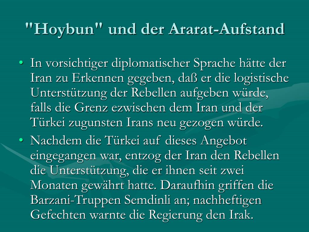 """""""Hoybun"""" und der Ararat-Aufstand"""