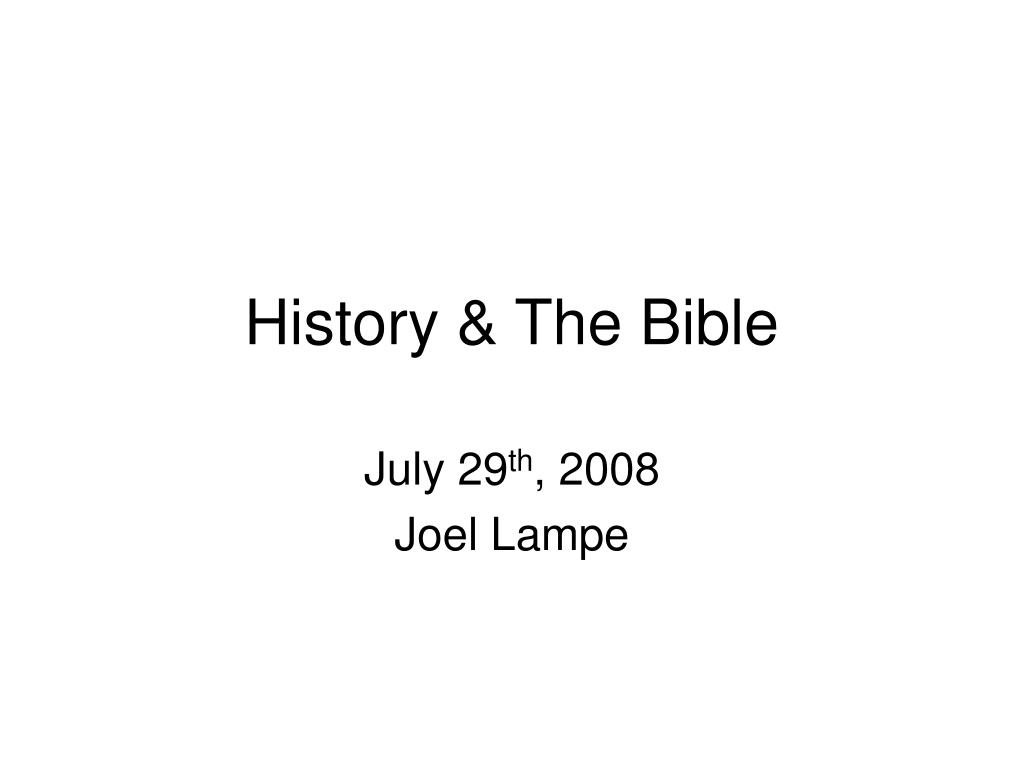 history the bible l.