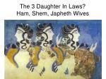 the 3 daughter in laws ham shem japheth wives
