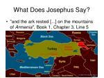 what does josephus say