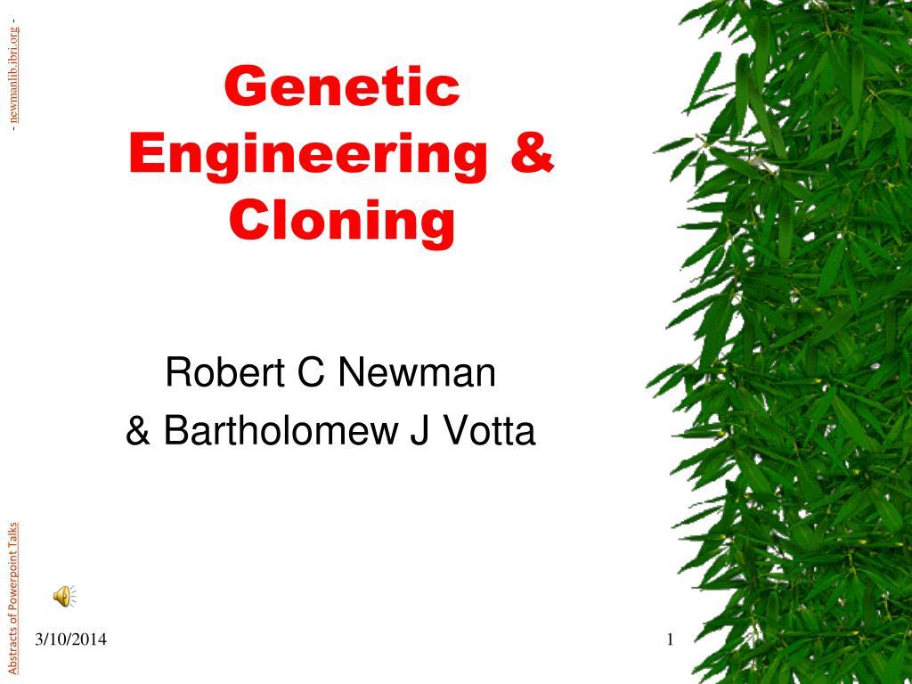 genetic engineering cloning l.