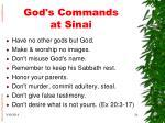 god s commands at sinai