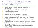 challenges facing agro food industries