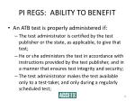 pi regs ability to benefit28