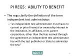 pi regs ability to benefit30