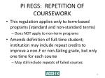 pi regs repetition of coursework