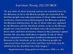 laevinus treaty 212 211 bce