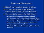 rome and macedonia