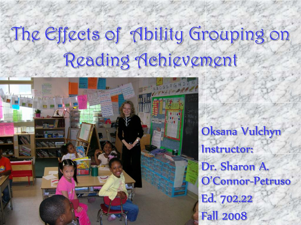 the effects of ability grouping on reading achievement l.