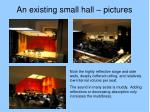 an existing small hall pictures