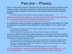 part one physics