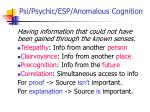 psi psychic esp anomalous cognition