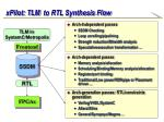 xpilot tlm to rtl synthesis flow