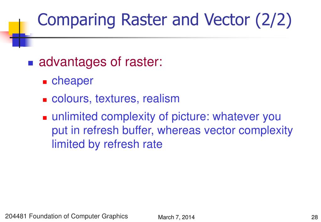 Comparing Raster and Vector (2/2)
